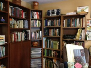 Author Cindy Thomson's bookcases